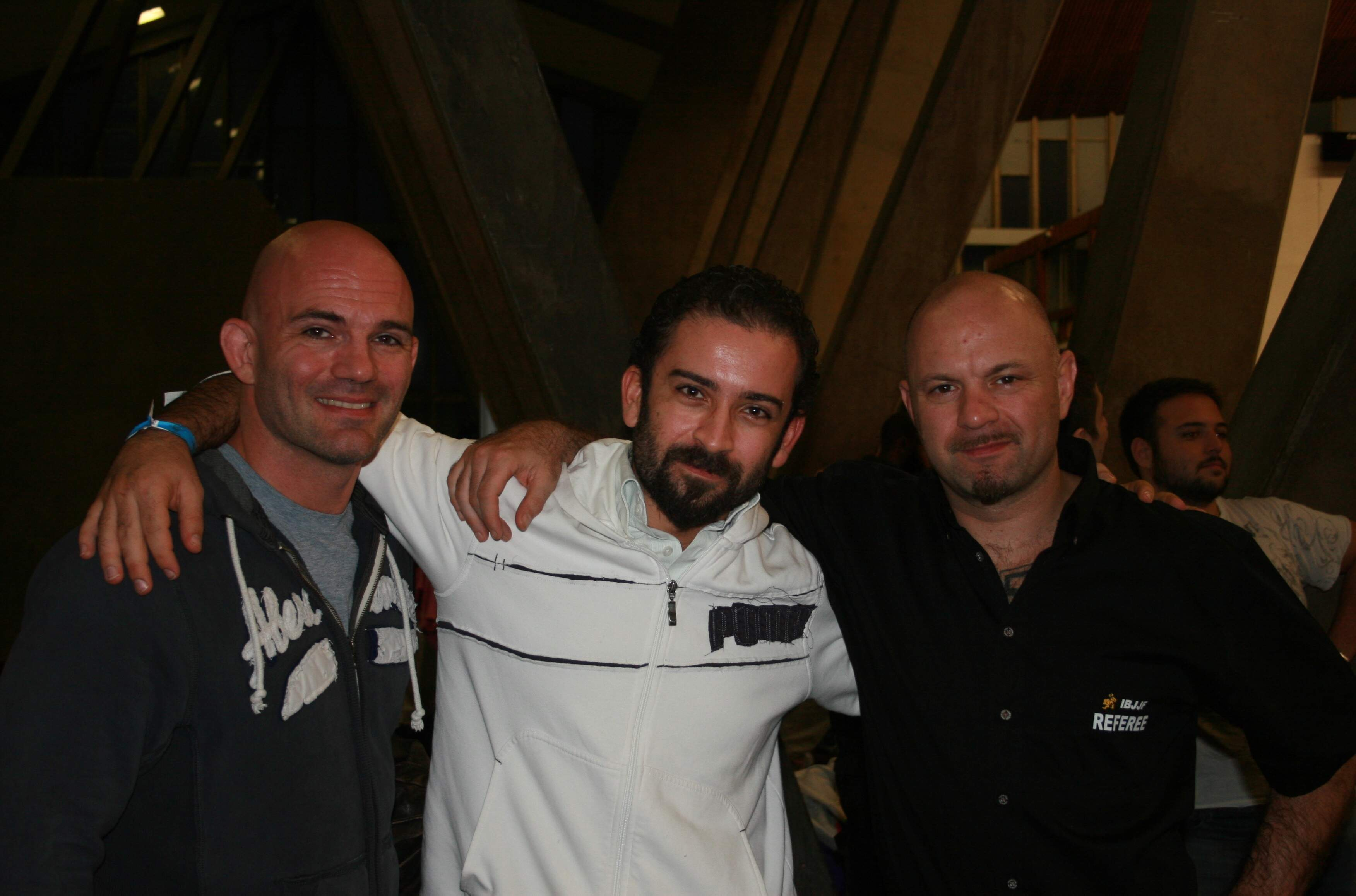 With Federico Tisi and Dario Bacci at the Jiu Jitsu European Championships, London