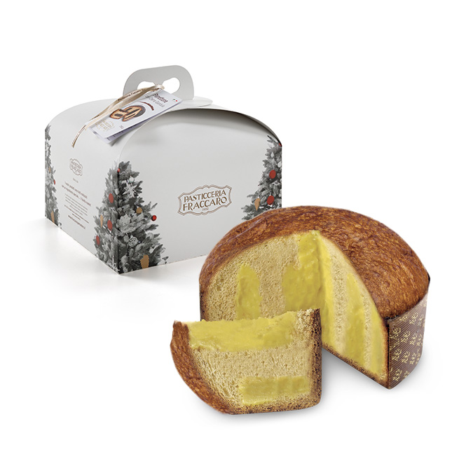 Panettone sourdough  with with Limoncello flavored cream 750gr (26.45 oz) Imported from Italy