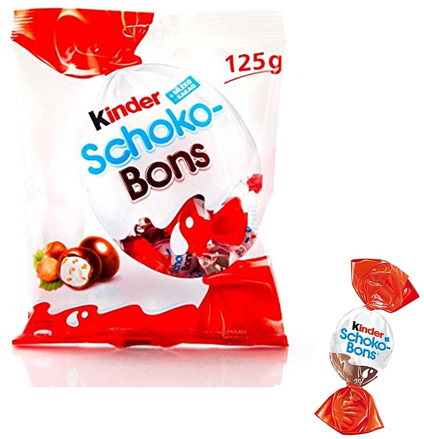 "kinder schoko bons 125gr (4.4 oz) ""Imported from Italy"""