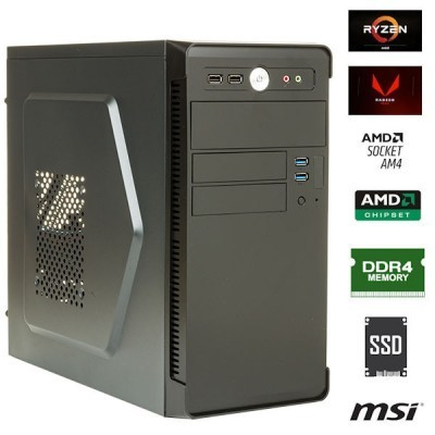NUOVO PC DANY VERONIKA ULTRA Amd Ryzen 3 2200G W10 8GB SSD 240GB