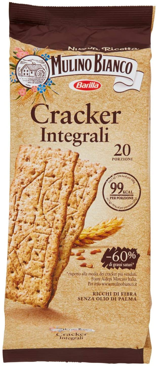 "Whole Wheat Italian Crackers by Mulino Bianco - 17.63 oz. ""Imported from Italy"""