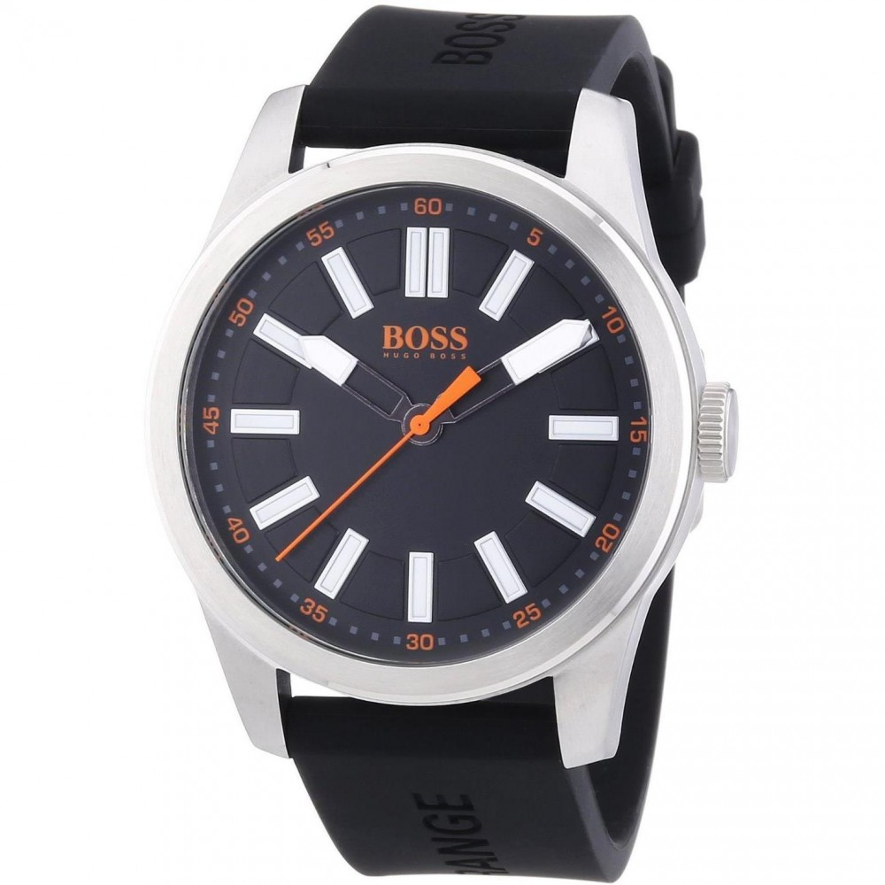 Hugo Boss Grand Prix Silver Black Face Chronograph Men's Watch 1513473
