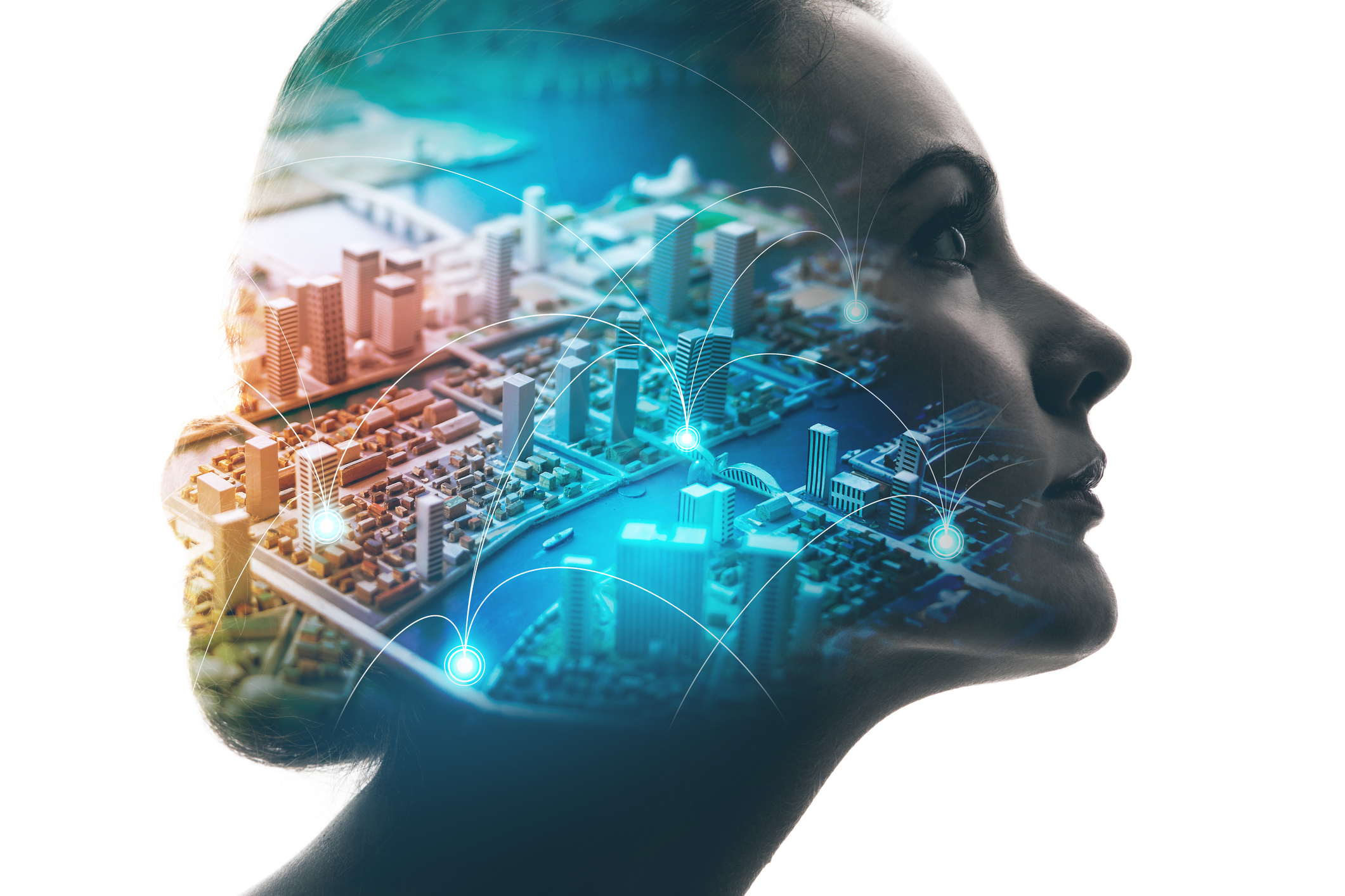 ai-artificial-intelligence-concept-woman-profile-and-smart-city-mixed-mediajpg