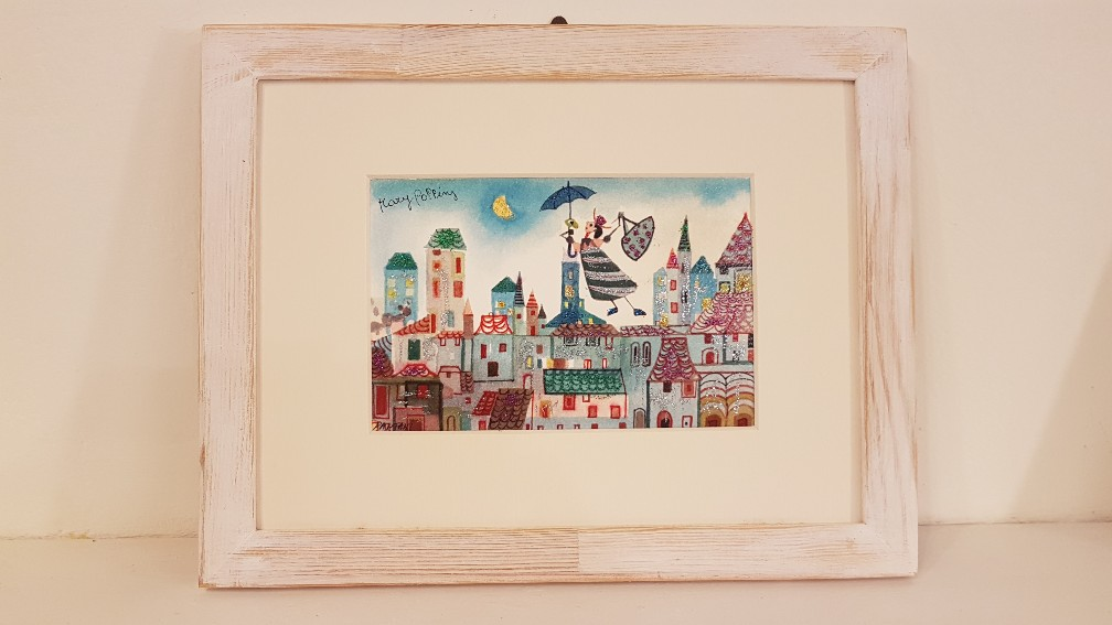 Mary Poppins con cornice - Mary Poppins with frame