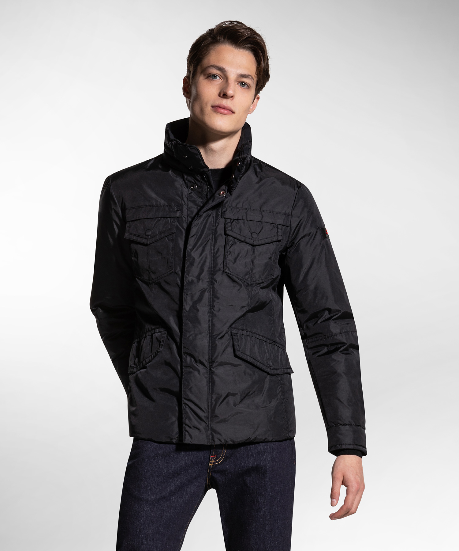FIELD JACKET  PEUTEREY  IN OXFORD TECNICO STRIPES OXF 00