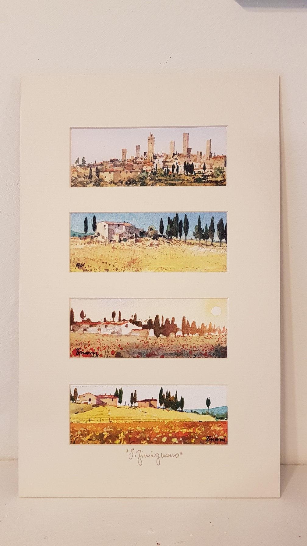 Quattro scorci in Toscana  - four views in Tuscany