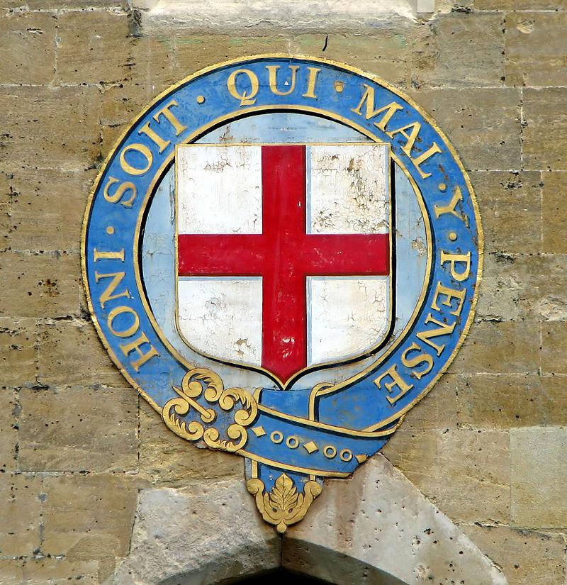 CC BY-SA 30 Bernard Gagnon Emblema dellOrdine della Giarrettiera al castello di Windsorjpg