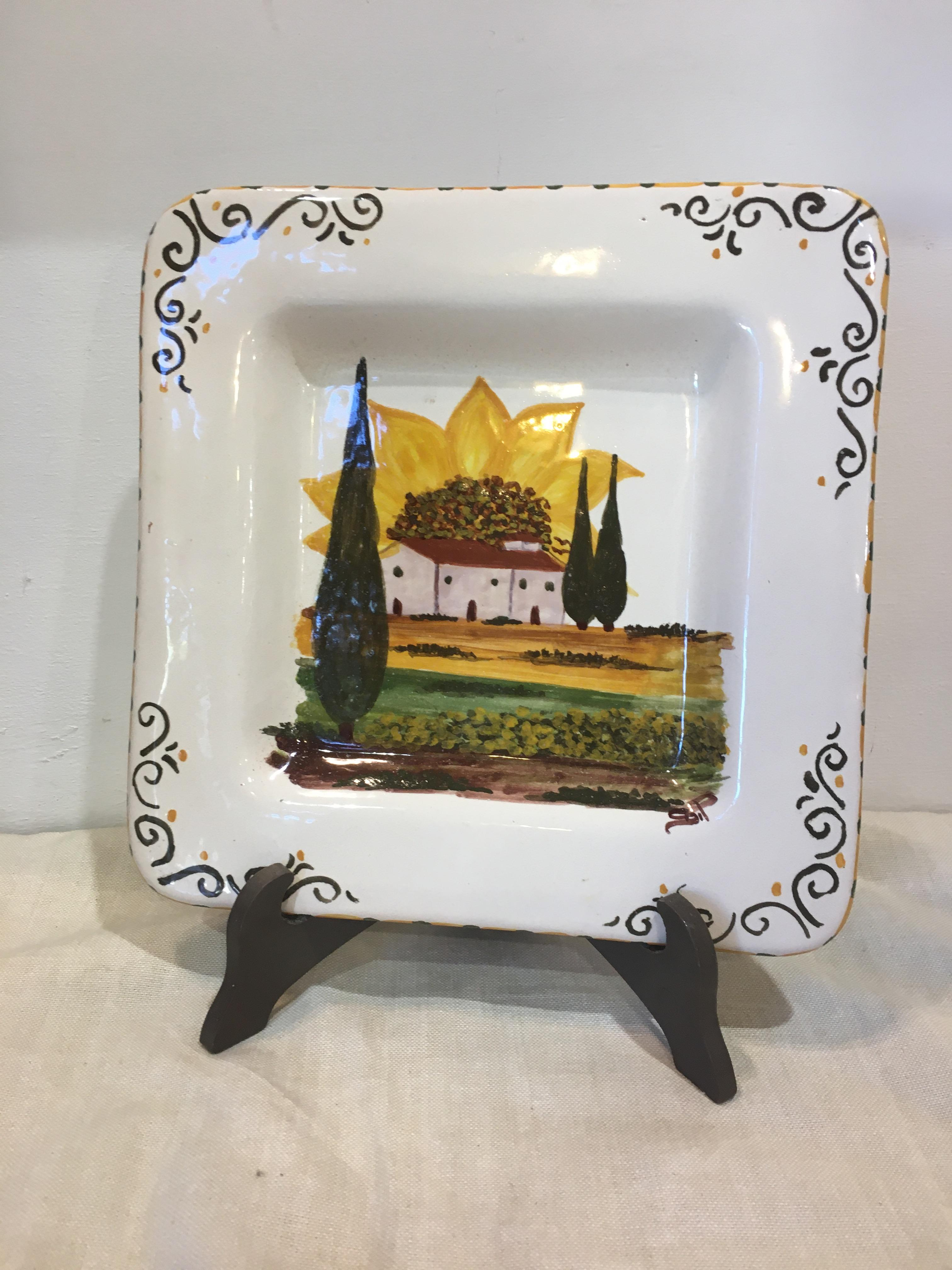 Square plate Tuscany