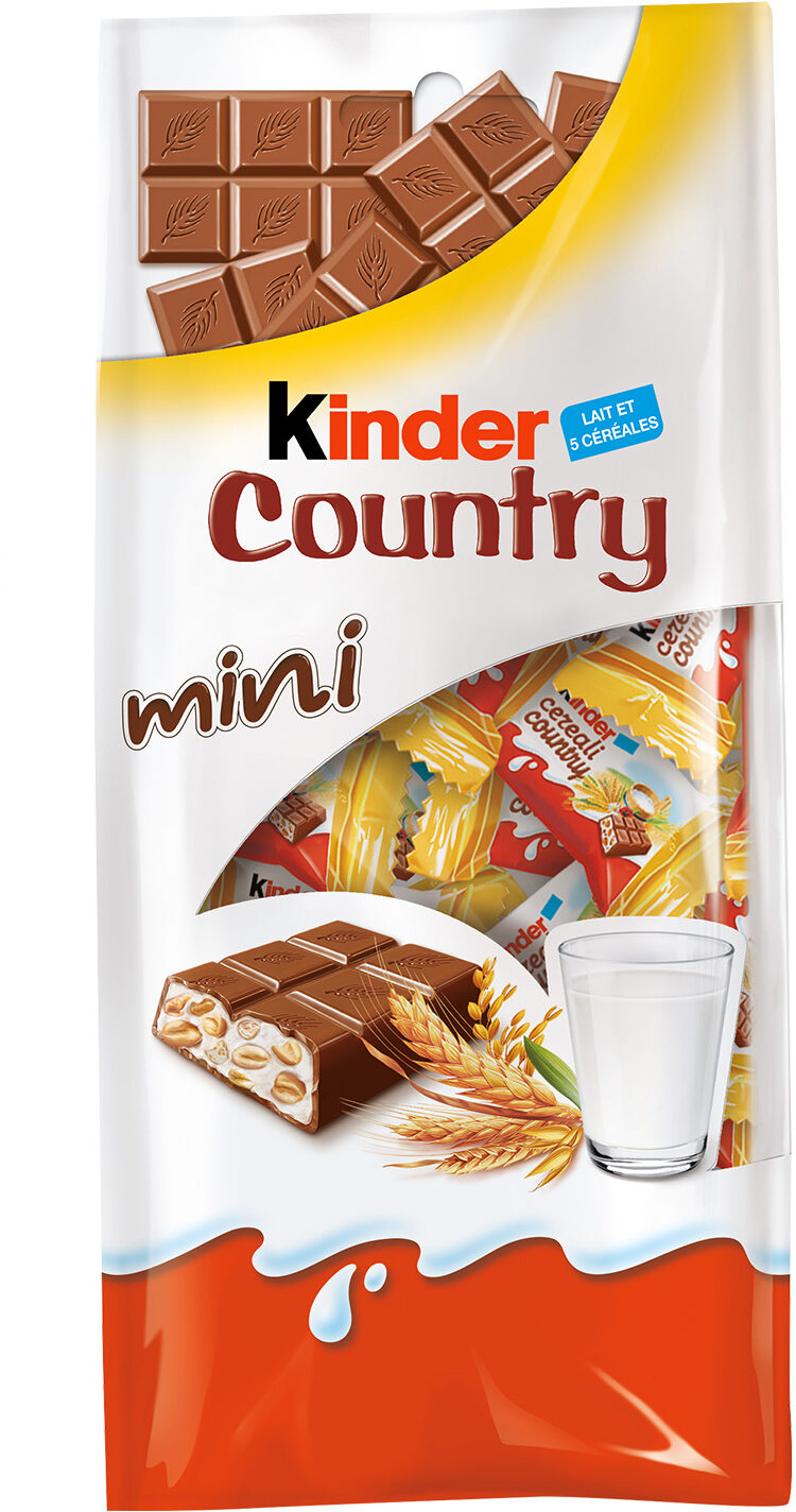 "kinder mini country 2 x 20 pz 240gr (8.46oz)  ""Imported from Italy"""