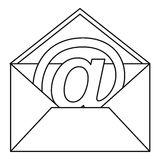 alla-posta-del-segno-nell-icona-della-busta-stile-del-profilo-89247815jpg