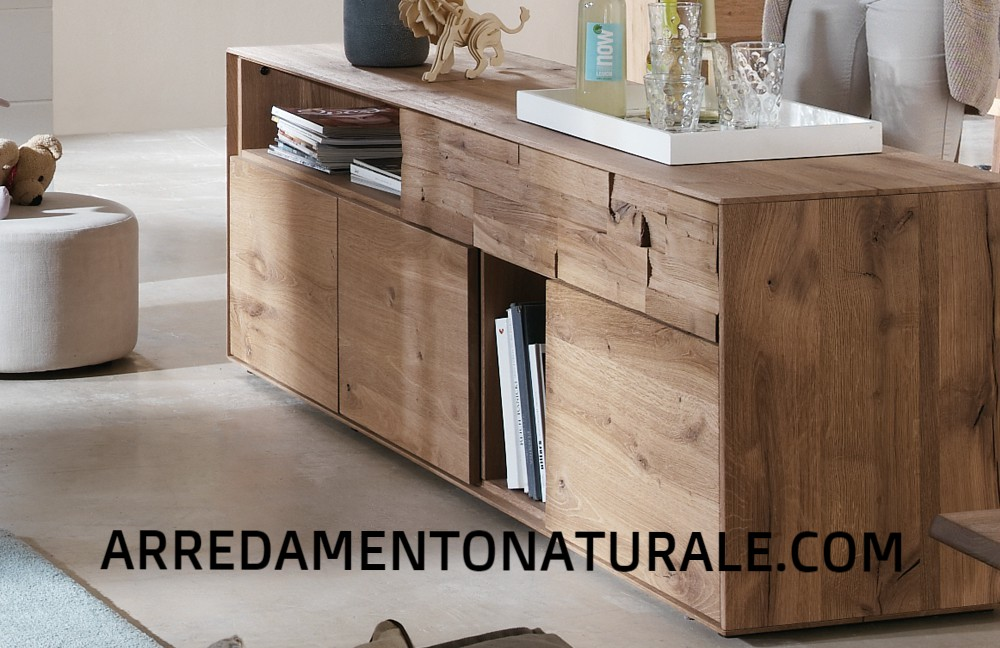 Credenza Moderna In Legno Massello : Credenze e tavoli in vero legno massello su misura