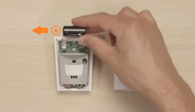 Come sostituire batteria rilevatore BW 802 Bentel -png