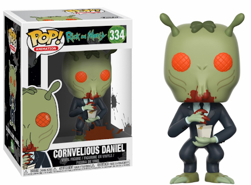 FUNKO POP CORNVELIOUS DANIEL #334 RICK AND MORTY ANIMATION
