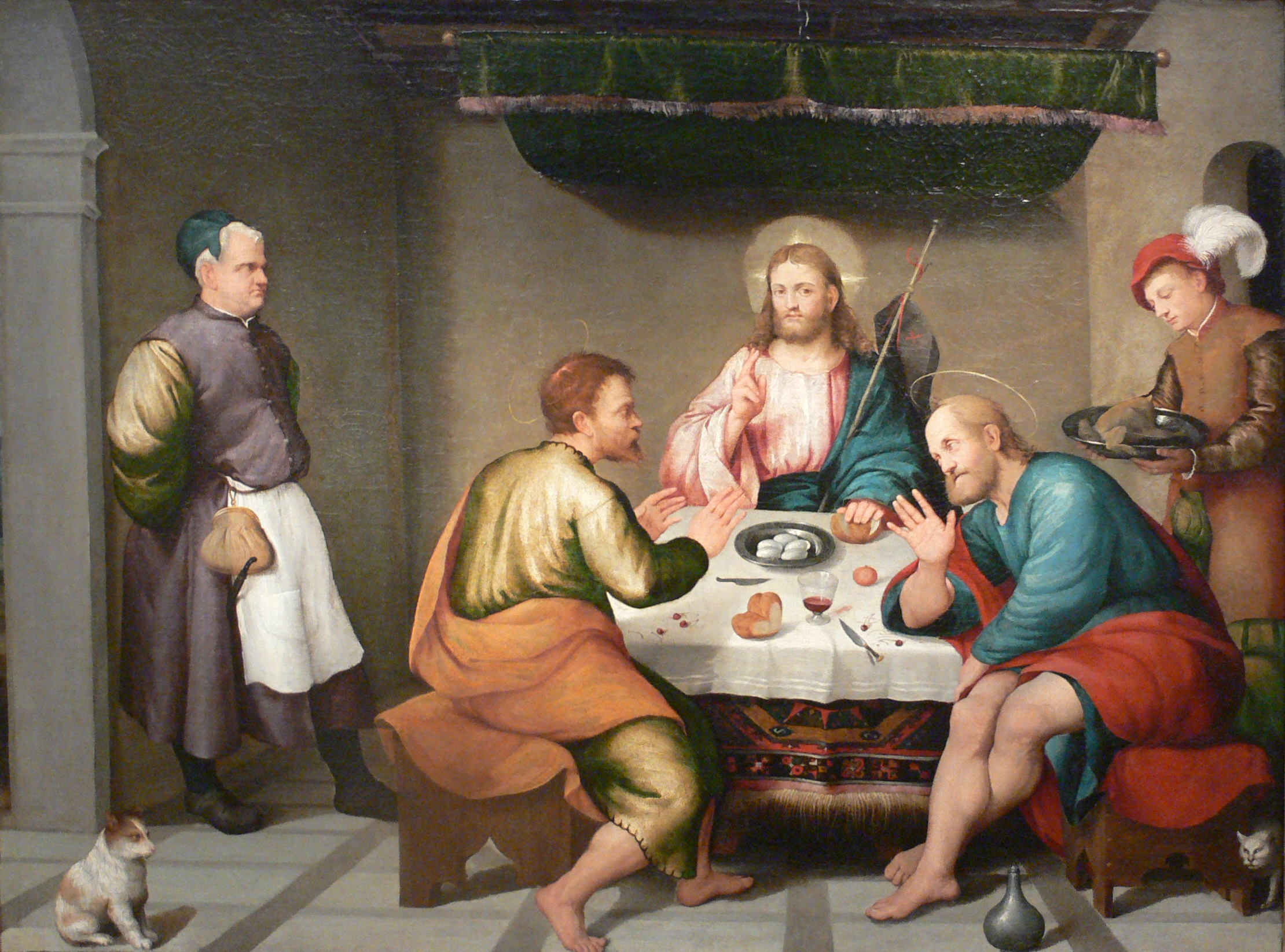 Jacopo_da_Ponte_Bassano_Supper_at_Emmaus_Kimbelljpg