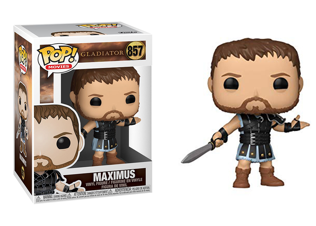 FUNKO POP MAXIMUS #857 GLADIATOR RUSSEL CROWE MOVIES