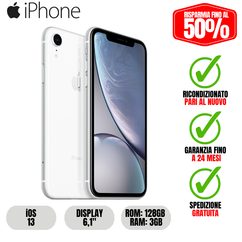 IPHONE XR | 128GB - WHITE