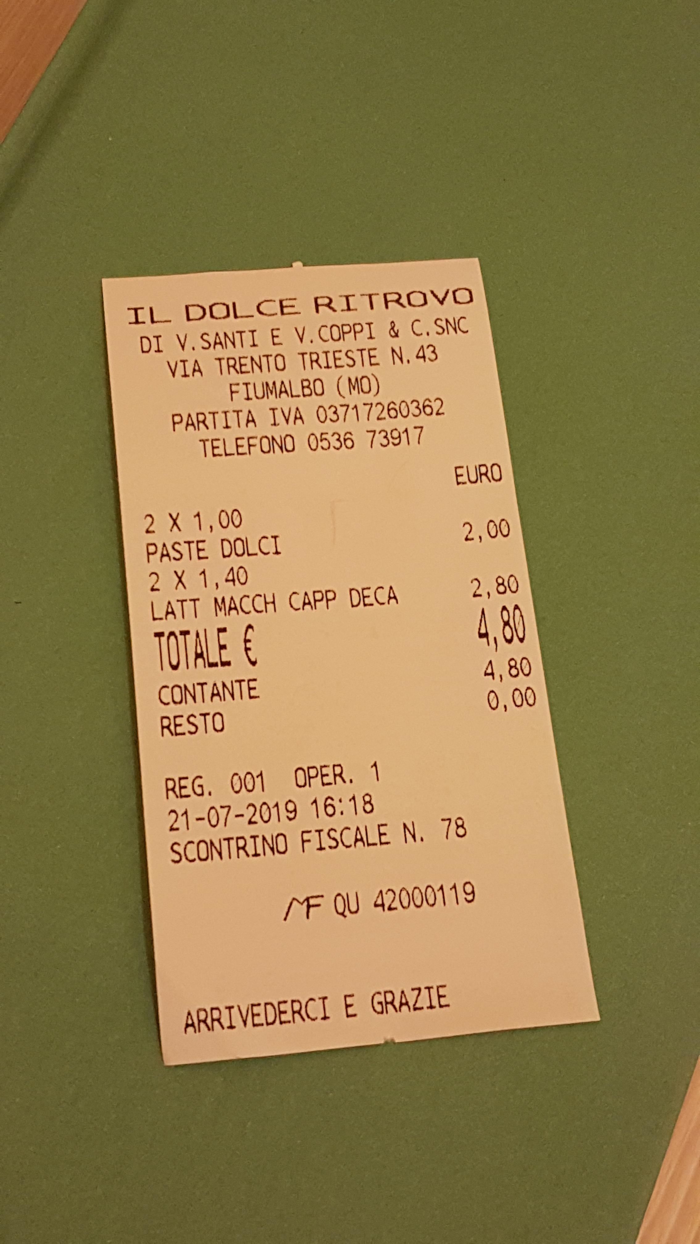 IL DOLCE RITROVO - BAR PASTICCERIA - FIUMALBO - MODENA 1jpg