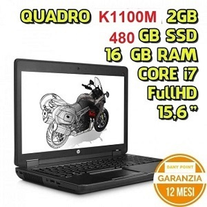 Usato Workstation Hp ZBook 15 Intel I7 16GB Ram SSD480GB Quadro K1100M