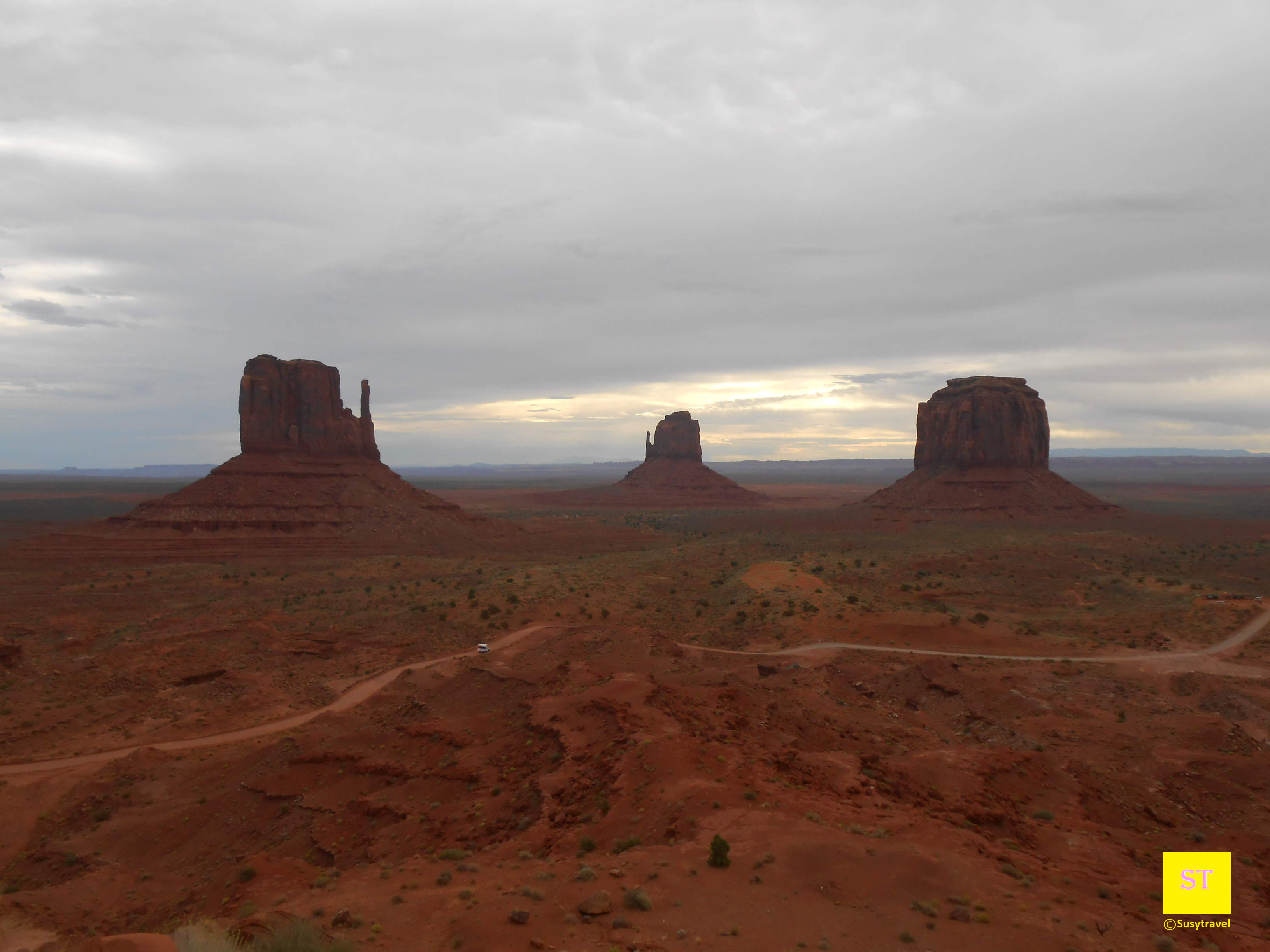 Mittens and Merrick's Butte, monument valley