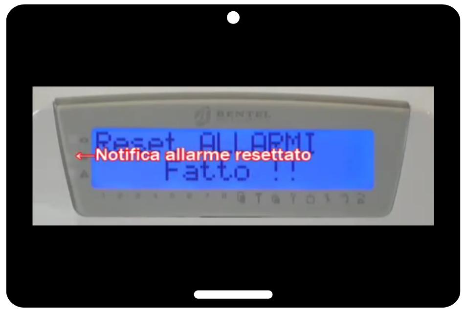 Reset Allarme Tastiera LCD Bentel Absoluta - png