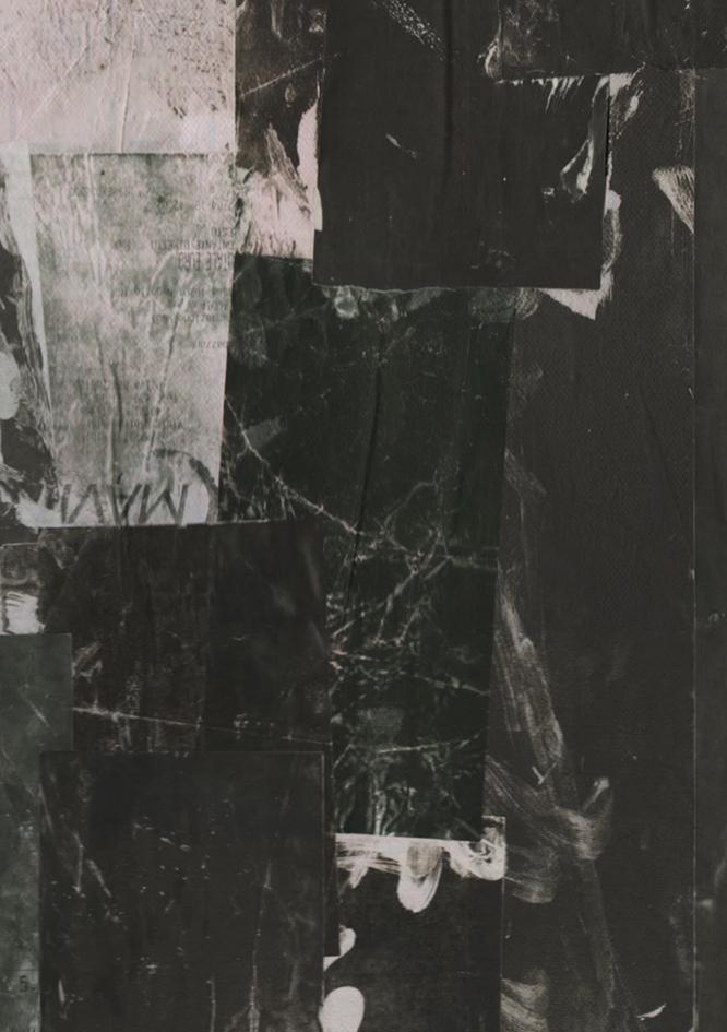 2 Michele Di Pirro Opere di Nero Induzione 2020 legno tela carta termica 50x40cmjpg