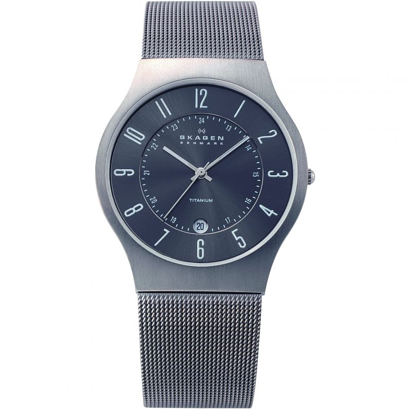 Men's Skagen Grenen Titanium Watch 233XLTTM