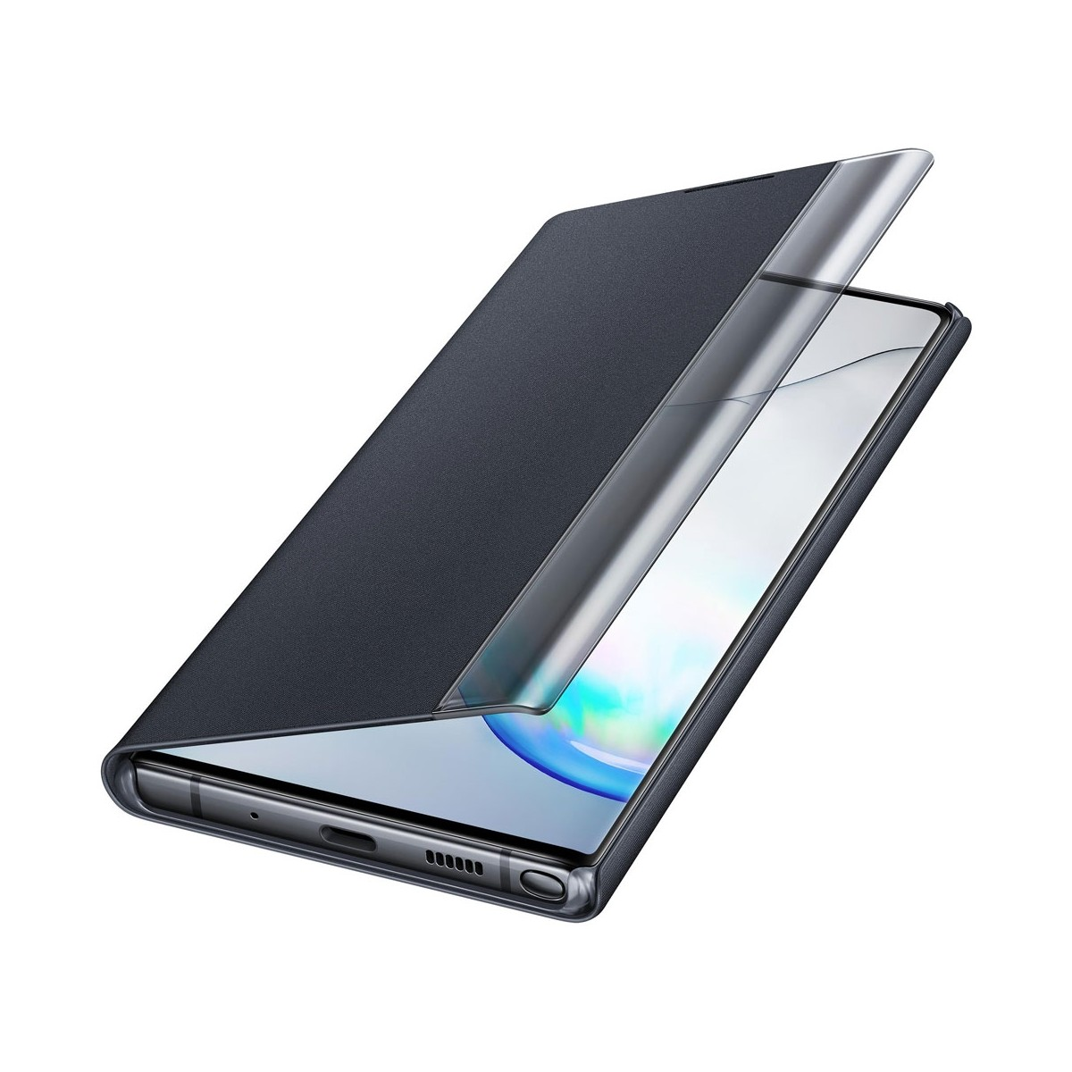 Samsung Clear View Cover Per Galaxy Note 10, Note 10 5G Nero