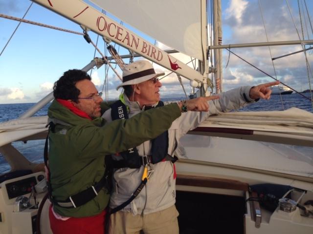 Ob e sotto a dx col cappello il sottoscritto insieme al suo amico e skipper-armatore di Ob Piero detto il Sobriojpeg