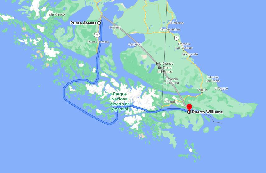 mappa itinerario traghettopng