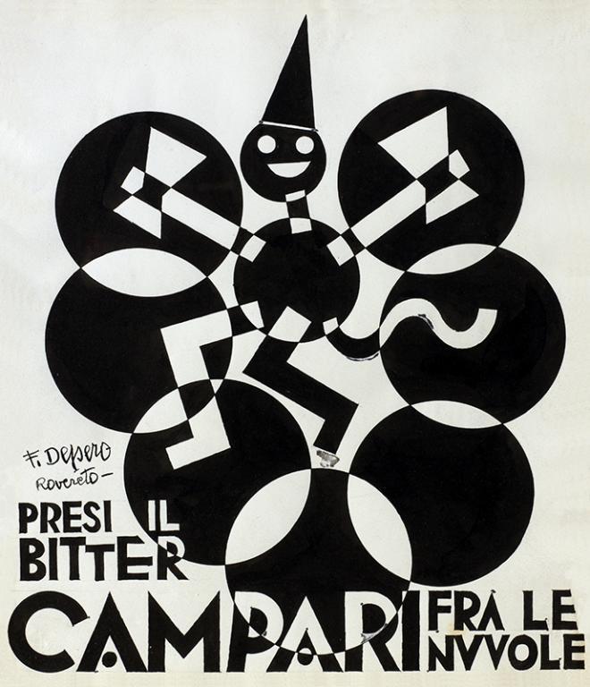Fortunato Depero Presi il bitter campari fra le nuvole  1928     Galleria Camparijpeg