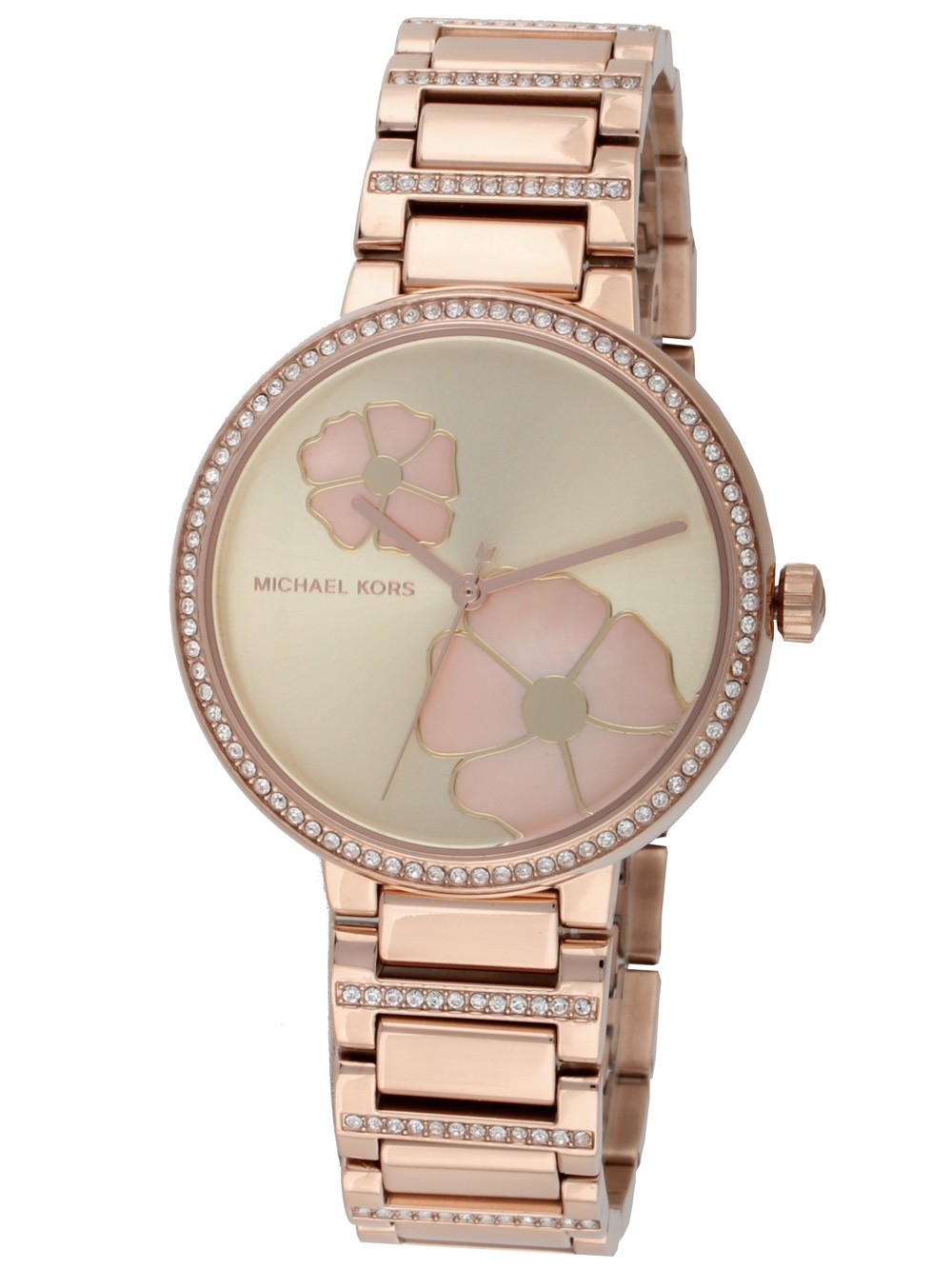 Michael Kors Courtney Quartz Crystal Ladies Watch MK3836