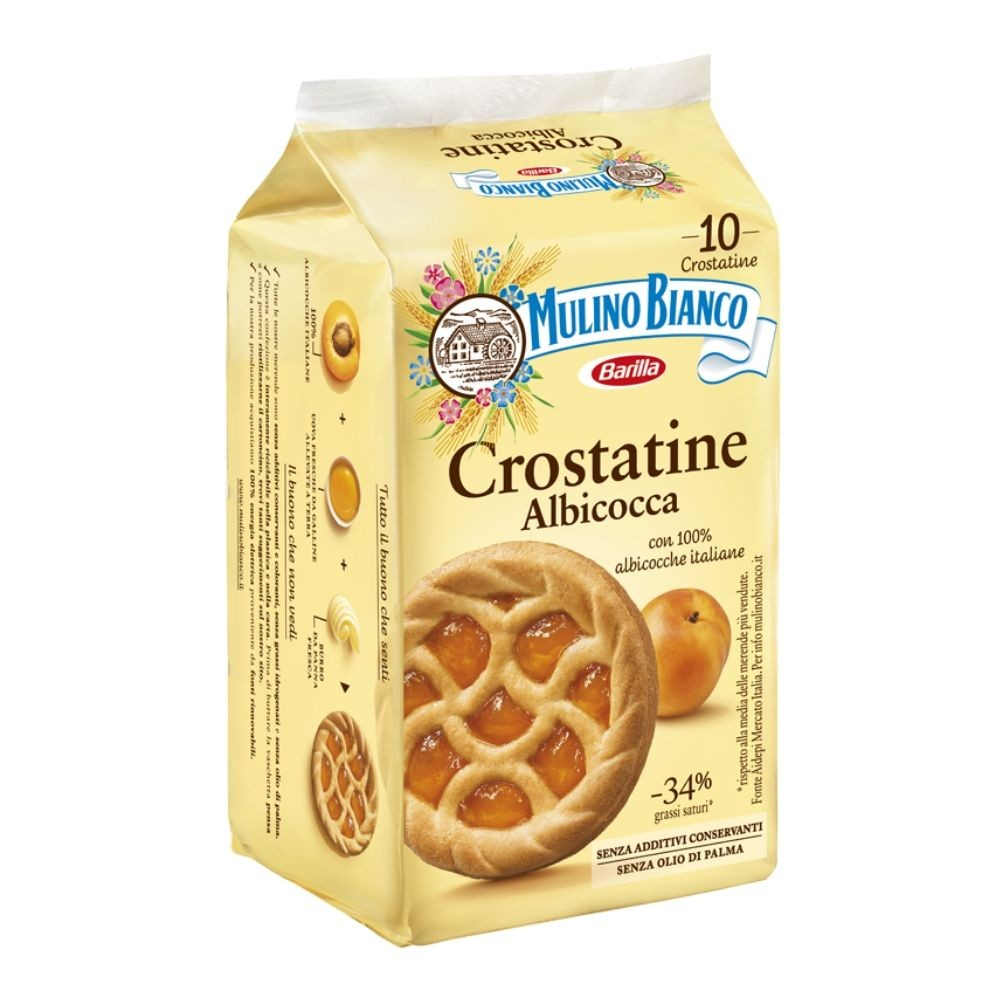 "Mulino Bianco Crostatine Apricot 400gr (14.10oz) ""Imported from Italy"""