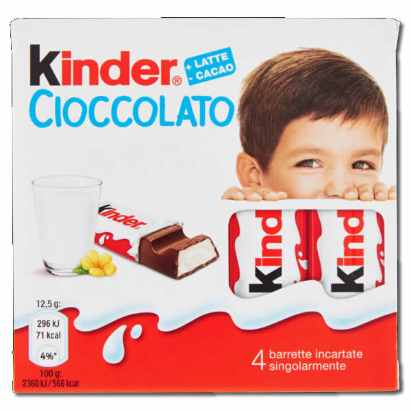 "Ferrero: Kinder Chocolate  2 x 4 pz ""Imported from Italy"""