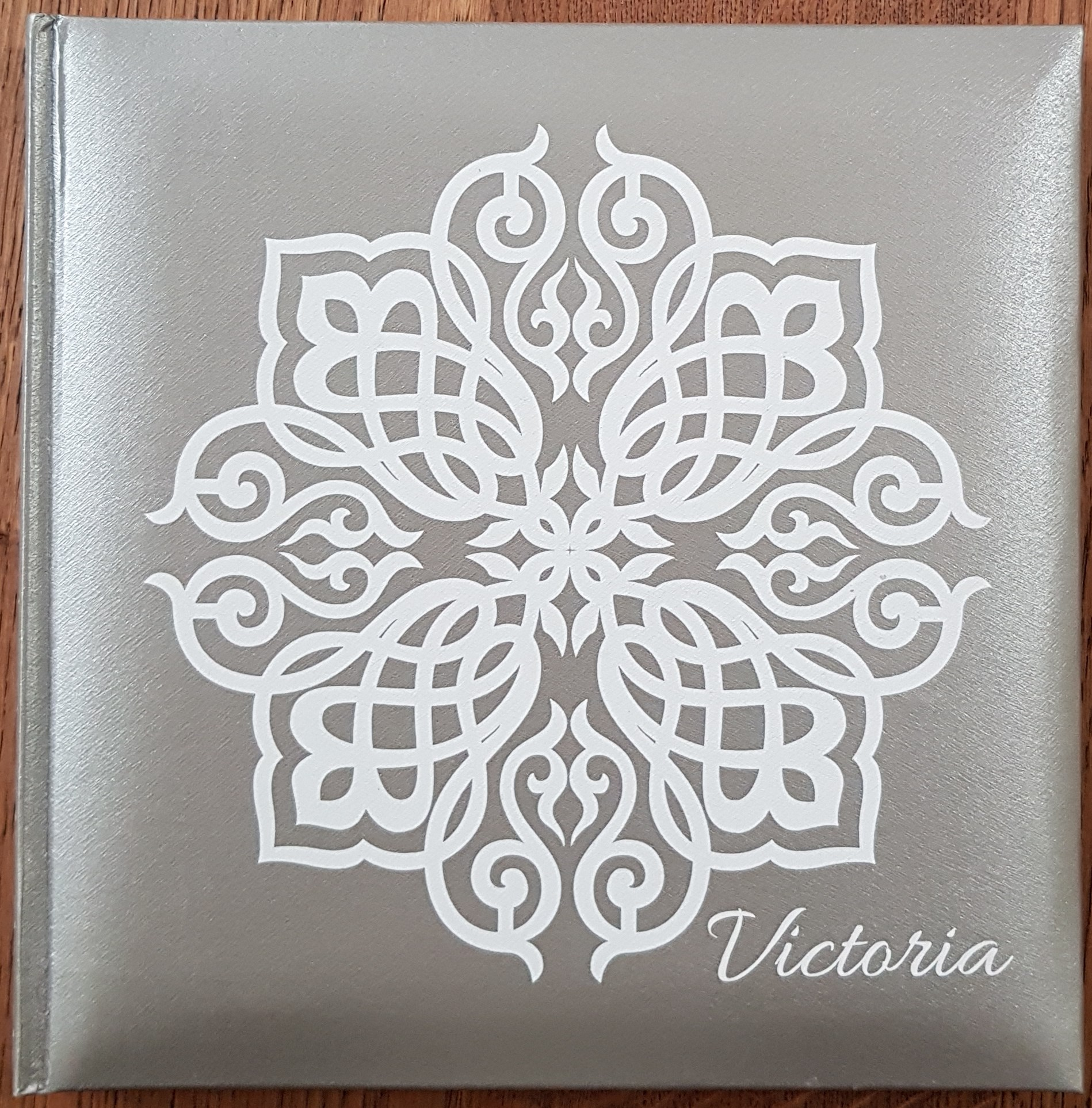 album 24x24cm arabesque argento
