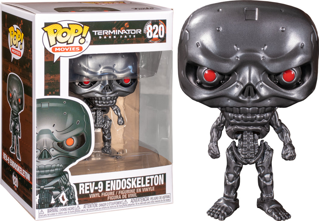 FUNKO POP REV-9 ENDOSKELETON #820 TERMINATOR MOVIES
