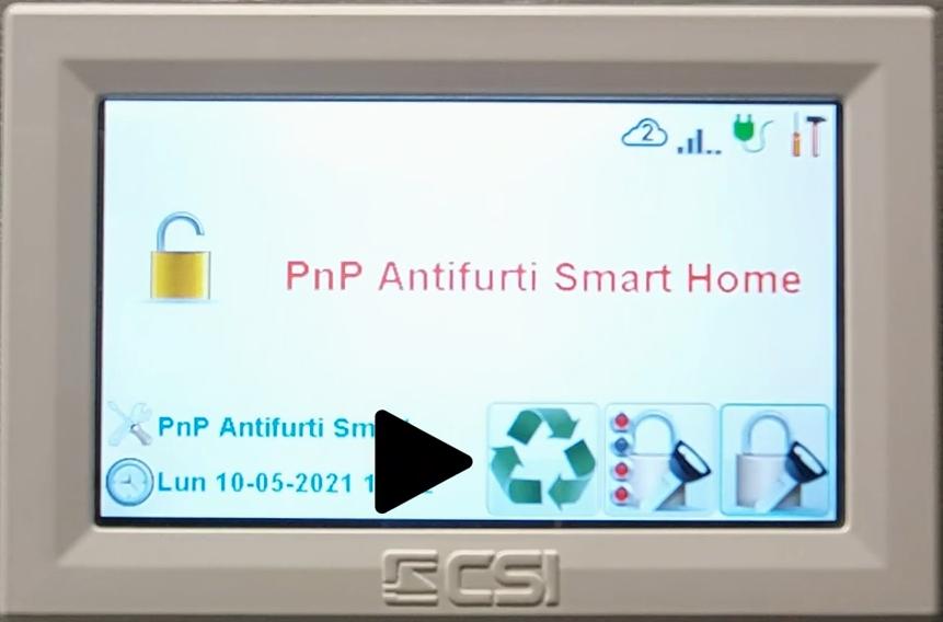 Come modificare numeri telefonici antifurto Infinite CSIpng