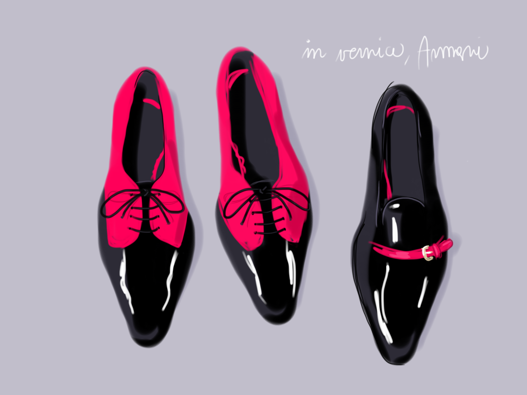Fashion Accessories - Open Toe Illustration by Silvana Mariani