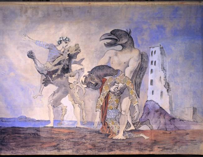 Picasso La deposizione del Minotauro in costume da Arlecchino 1936jpg