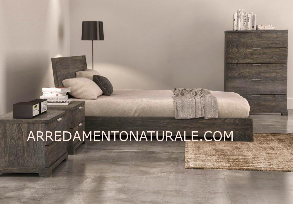 Letti contenitore in legno massello di teak e rovere naturale e rustico design moderno - Letti design moderno ...
