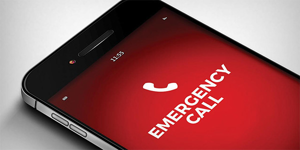 smartphone emergency call
