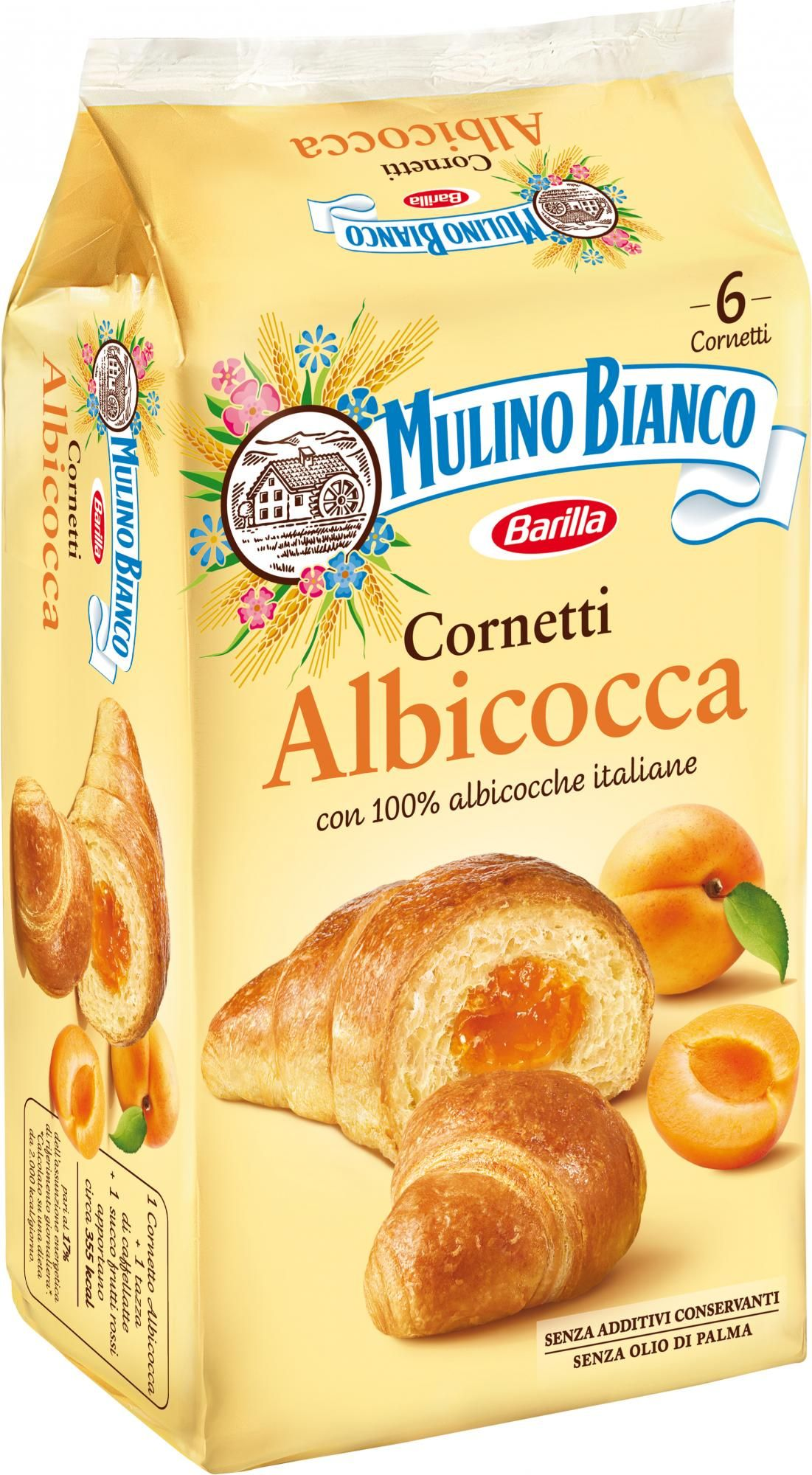 "Mulino Bianco original Croissant with Apricot 300gr (10.58 oz)  ""Imported from Italy"""