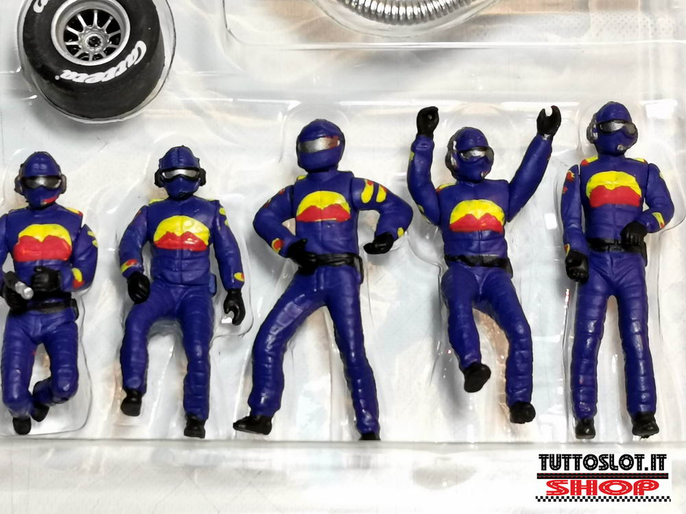 Set meccanici box dipinti a mano- Set pit crew figures handmade painted